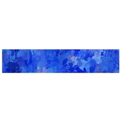 Splashes Of Color, Blue Flano Scarf (small)  by MoreColorsinLife