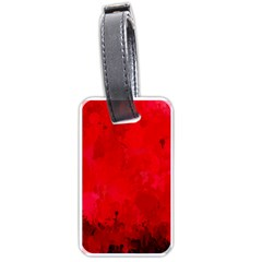 Splashes Of Color, Deep Red Luggage Tags (one Side)  by MoreColorsinLife