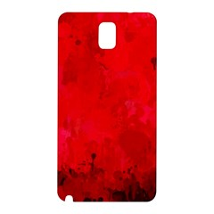 Splashes Of Color, Deep Red Samsung Galaxy Note 3 N9005 Hardshell Back Case by MoreColorsinLife