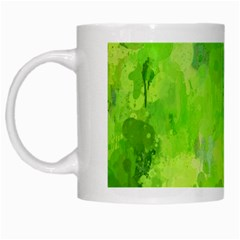 Splashes Of Color, Green White Mugs by MoreColorsinLife