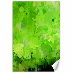 Splashes Of Color, Green Canvas 20  X 30   by MoreColorsinLife