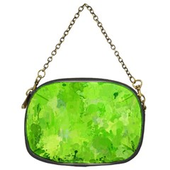 Splashes Of Color, Green Chain Purses (one Side)  by MoreColorsinLife