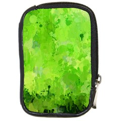 Splashes Of Color, Green Compact Camera Cases by MoreColorsinLife