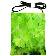 Splashes Of Color, Green Shoulder Sling Bags by MoreColorsinLife