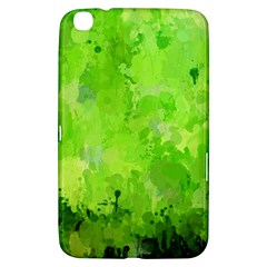 Splashes Of Color, Green Samsung Galaxy Tab 3 (8 ) T3100 Hardshell Case  by MoreColorsinLife