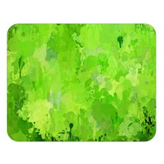 Splashes Of Color, Green Double Sided Flano Blanket (large)  by MoreColorsinLife