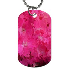 Splashes Of Color, Hot Pink Dog Tag (two Sides) by MoreColorsinLife