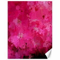 Splashes Of Color, Hot Pink Canvas 12  X 16   by MoreColorsinLife