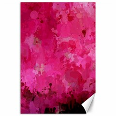 Splashes Of Color, Hot Pink Canvas 24  X 36  by MoreColorsinLife