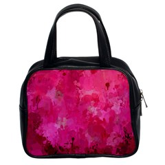 Splashes Of Color, Hot Pink Classic Handbags (2 Sides) by MoreColorsinLife