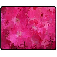 Splashes Of Color, Hot Pink Fleece Blanket (medium)  by MoreColorsinLife