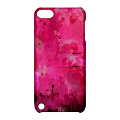 Splashes Of Color, Hot Pink Apple Ipod Touch 5 Hardshell Case With Stand