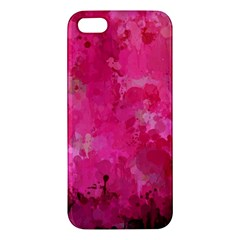 Splashes Of Color, Hot Pink Apple Iphone 5 Premium Hardshell Case by MoreColorsinLife