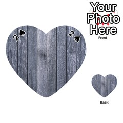 Grey Fence Playing Cards 54 (heart)  by trendistuff