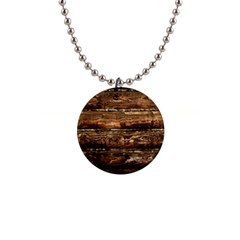 Dark Stained Wood Wall Button Necklaces by trendistuff