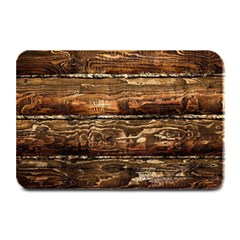 Dark Stained Wood Wall Plate Mats by trendistuff
