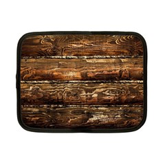 Dark Stained Wood Wall Netbook Case (small)  by trendistuff