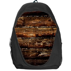 Dark Stained Wood Wall Backpack Bag by trendistuff