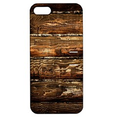 Dark Stained Wood Wall Apple Iphone 5 Hardshell Case With Stand by trendistuff