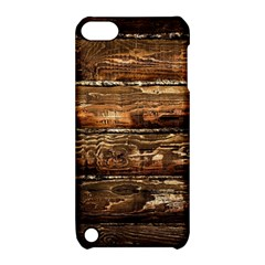 Dark Stained Wood Wall Apple Ipod Touch 5 Hardshell Case With Stand by trendistuff