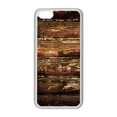 Dark Stained Wood Wall Apple Iphone 5c Seamless Case (white) by trendistuff