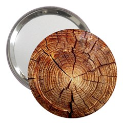 Cross Section Of An Old Tree 3  Handbag Mirrors by trendistuff