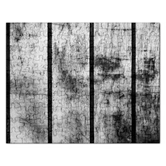 Black And White Fence Rectangular Jigsaw Puzzl by trendistuff