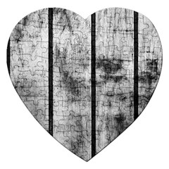 Black And White Fence Jigsaw Puzzle (heart) by trendistuff