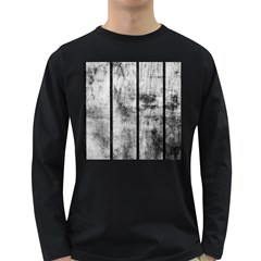Black And White Fence Long Sleeve Dark T Shirts by trendistuff