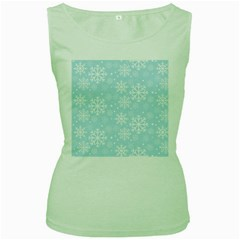 Frosty Women s Green Tank Tops by Kathrinlegg