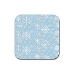 Frosty Rubber Coaster (square)  by Kathrinlegg