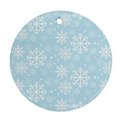 Frosty Round Ornament (two Sides)  by Kathrinlegg