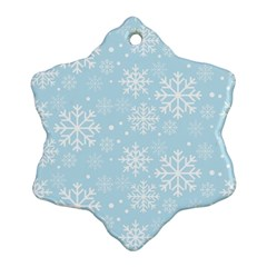 Frosty Snowflake Ornament (2 Side) by Kathrinlegg
