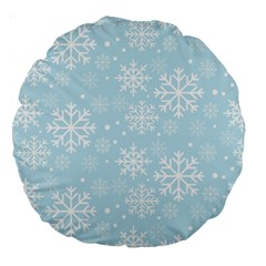 Frosty Large 18  Premium Round Cushions by Kathrinlegg
