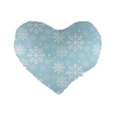 Frosty Standard 16  Premium Heart Shape Cushions by Kathrinlegg