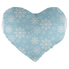 Frosty Large 19  Premium Heart Shape Cushions by Kathrinlegg