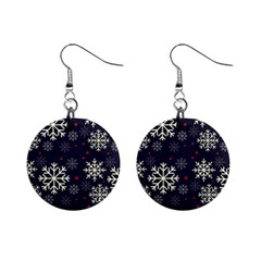Snowflake Mini Button Earrings