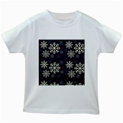Snowflake Kids White T Shirts by Kathrinlegg