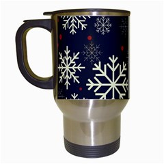 Snowflake Travel Mugs (white) by Kathrinlegg