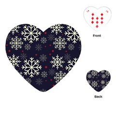 Snowflake Playing Cards (heart)  by Kathrinlegg