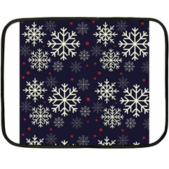 Snowflake Double Sided Fleece Blanket (mini)  by Kathrinlegg