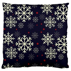 Snowflake Large Cushion Cases (one Side)  by Kathrinlegg