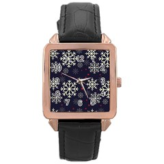 Snowflake Rose Gold Watches by Kathrinlegg
