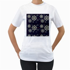 Snowflake Women s T Shirt (white)  by Kathrinlegg
