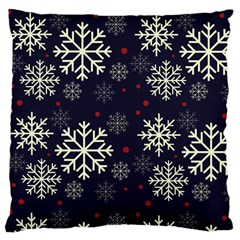 Snowflake Large Flano Cushion Cases (two Sides)