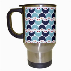 Moon Pattern Travel Mugs (white) by Kathrinlegg