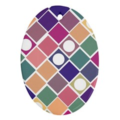 Dots And Squares Ornament (oval)