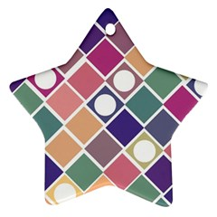 Dots And Squares Ornament (star)  by Kathrinlegg