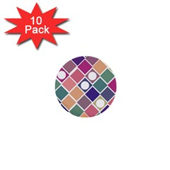 Dots And Squares 1  Mini Buttons (10 Pack)  by Kathrinlegg