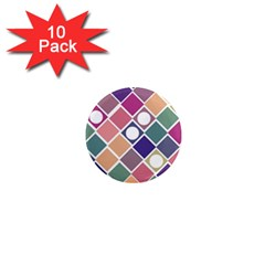 Dots And Squares 1  Mini Magnet (10 Pack)  by Kathrinlegg